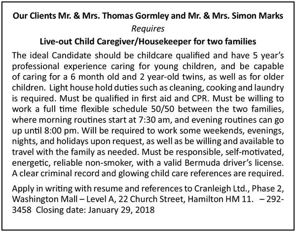 Live Out Child Care Giver Housekeeper