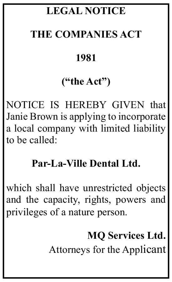 Par-La-Ville Dental Ltd.