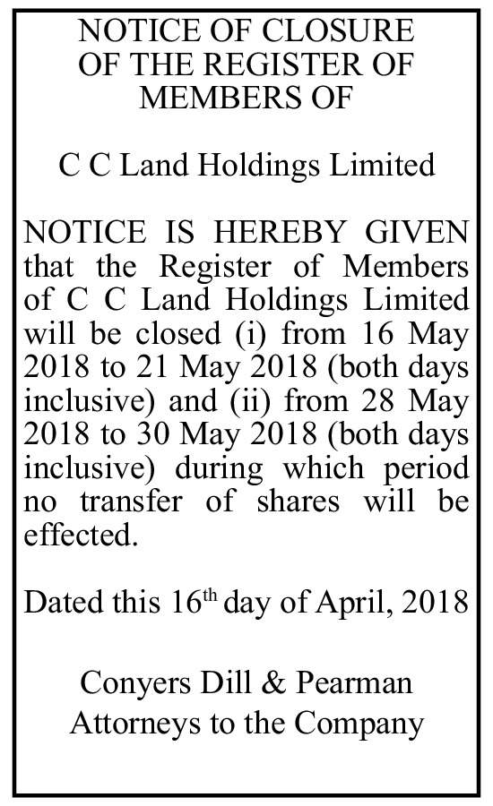 C C Land Holdings Limited