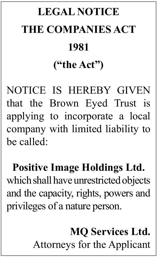 Positive Image Holdings Ltd.