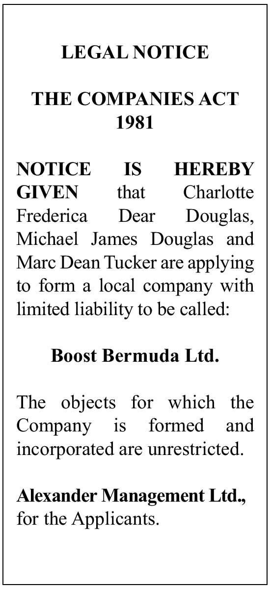 Boost Bermuda Ltd.