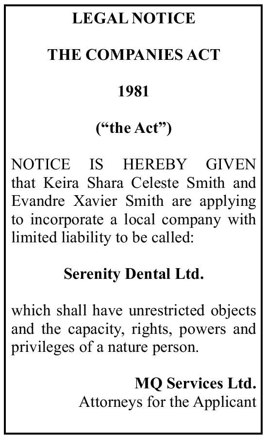 Serenity Dental Ltd.