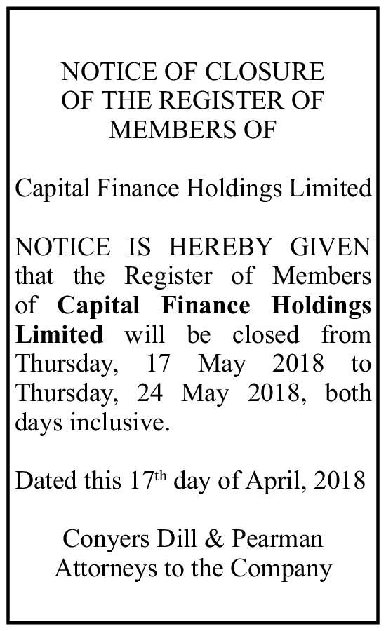 Capital Finance Holdings Limited