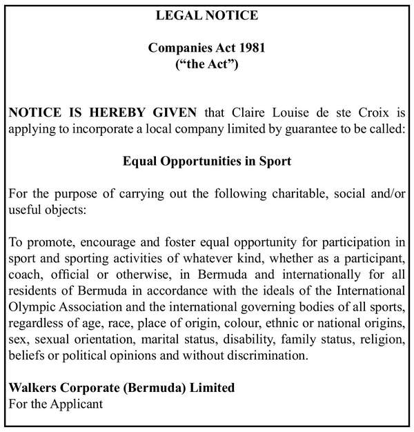 Equal Opportunities in Sport