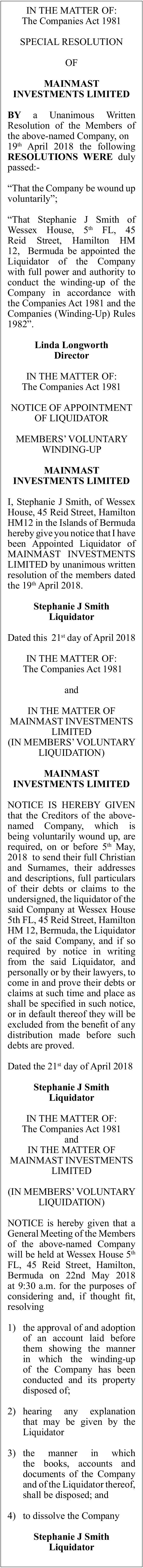 Maximast Investments Limited