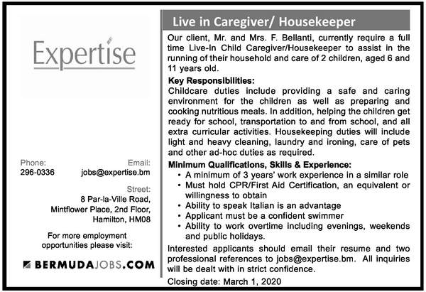 Live-In Caregiver/Housekeeper
